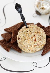 aged cheddar guinness caramelized shallot cheese ball