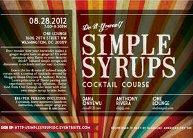 simple syrups cocktail course dc
