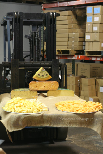 cheese by the forklift at CMI 2012