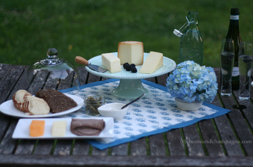 simple summer cheese party
