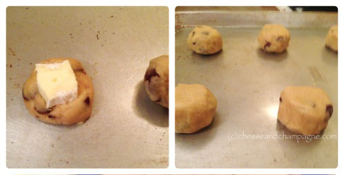 Making cheese-filled cookies | cheeseandchampagne.com