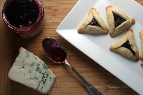 Blue Cheese and Jam Hamantaschen | CheeseandChampagne.com