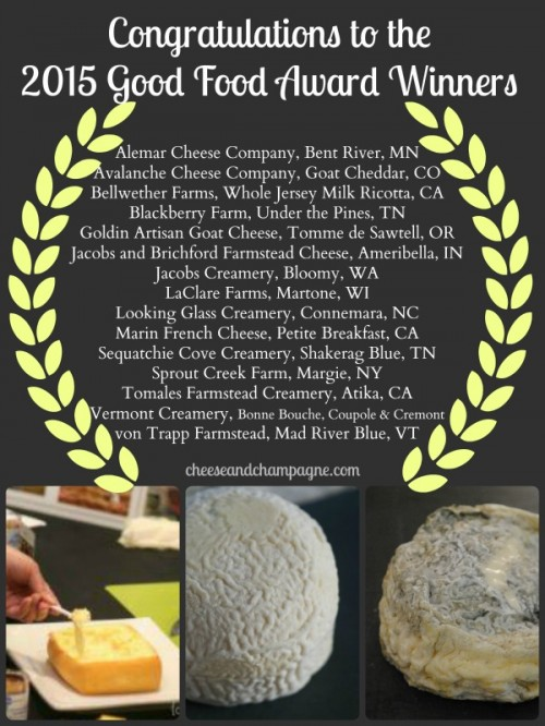 Good Food Awards for cheese | cheeseandchampagne.com